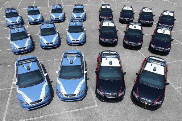 Italy S Seat Leon Police Cars
