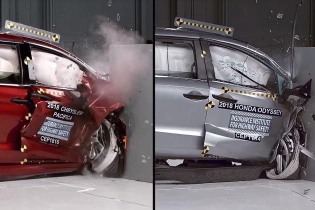 【ビデオ】ホンダ「オデッセイ」が、米国IIHSによる安全性試験でライバル車を上回る高評価!