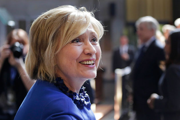 Hillary Clinton at an April 29th speech