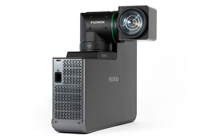 Fujifilm's rotating lens projector adjusts to your viewing space