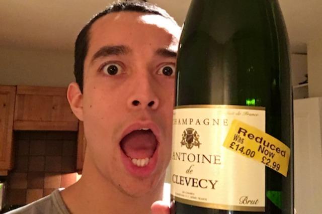 Yellow sticker champagne bargain