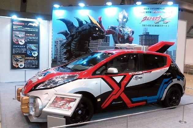 なんと、日産「リーフ」が最高速度200km/h!? 東京おもちゃショー2015で実車登場!!