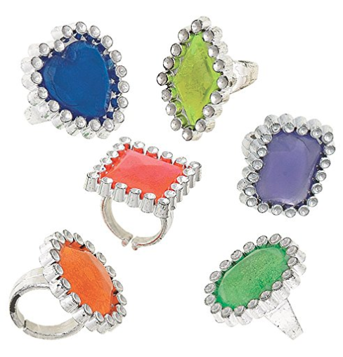 Plastic Gem Ring Party Favors Assorted Ct