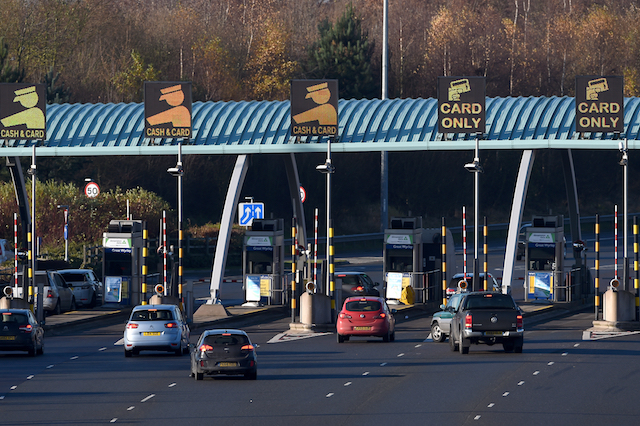 The M6 toll booth at Great Wyrley in Staffordshire. PRESS ASSOCIATION Photo. Picture date: Sunday December 4, 2016. Photo credit should read: Joe Giddens/PA Wire