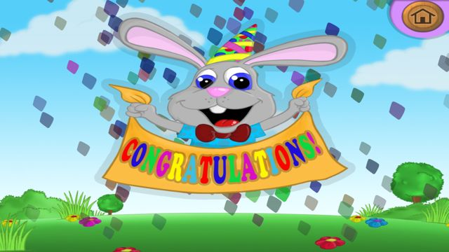 Congratulations screen in The ABC Song
