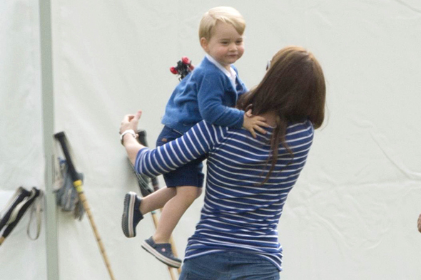 Mandatory Credit: Photo by Tim Rooke/REX Shutterstock (4848276bo) Catherine Duchess of Cambridge and Prince George British Royals at Beaufort Polo Club, Gloucestershire, Britain - 14 Jun 2015
