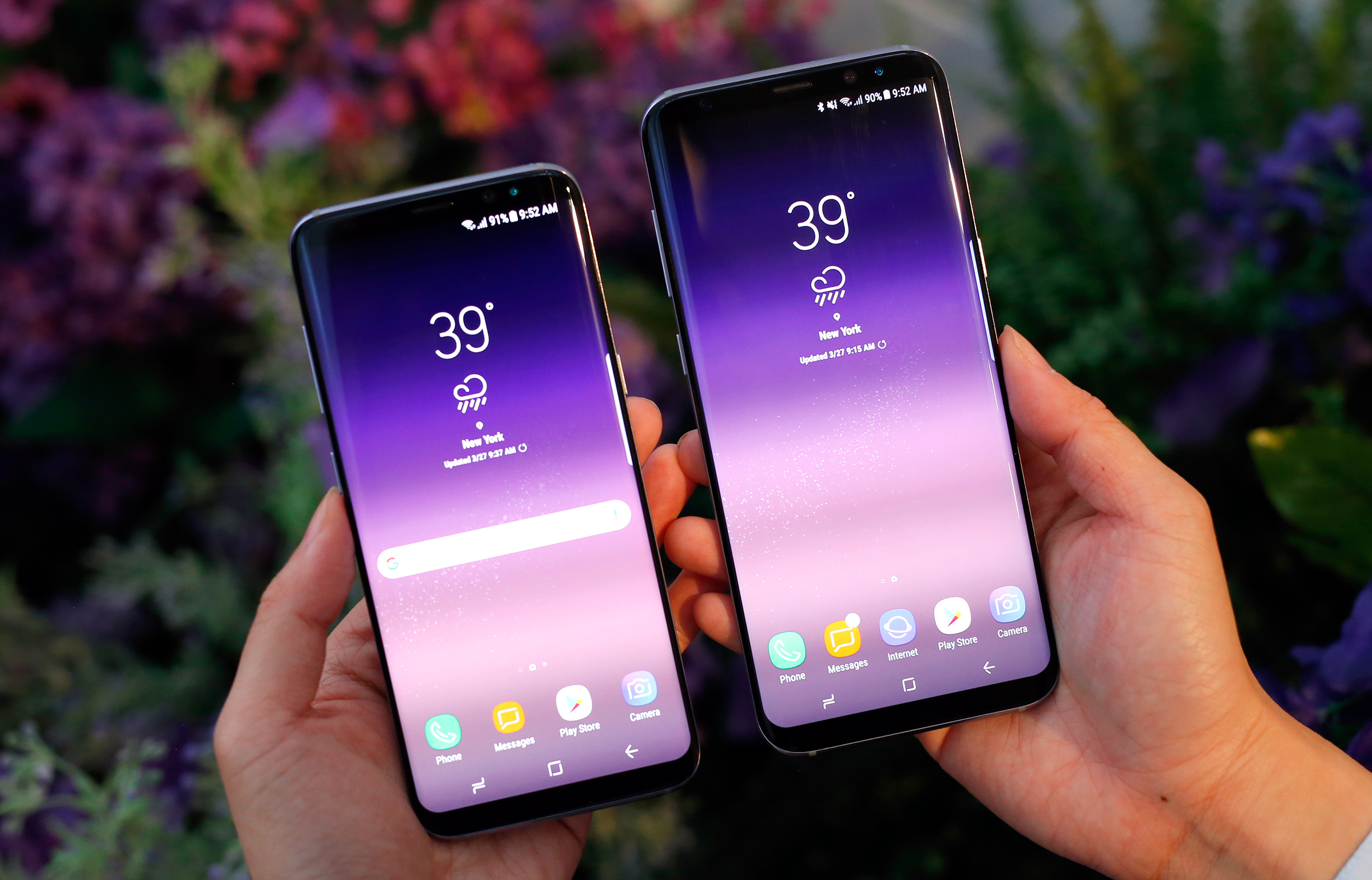 the galaxy s8 and s8 pack big changes into gorgeous bodies. Black Bedroom Furniture Sets. Home Design Ideas