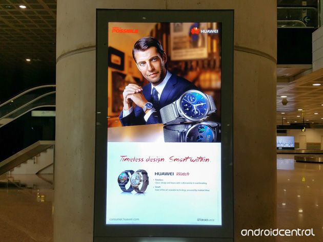 Huawei Watch ad in Barcelona's main airport