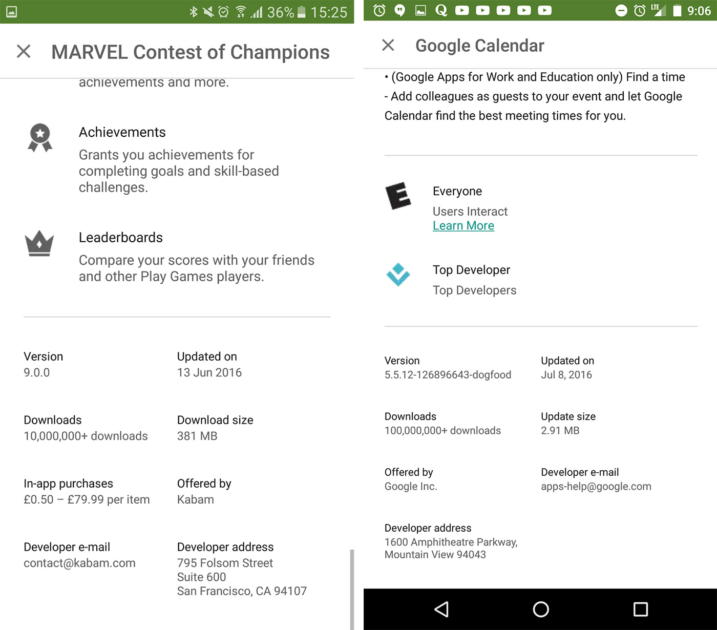 Google Play starts showing apps' actual download sizes