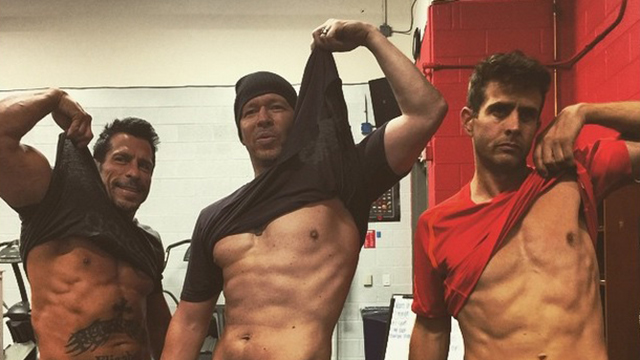 New Kids on the Block flaunt their abs on Instagram