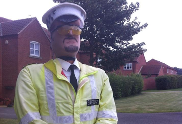 police scarecrow
