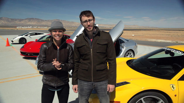 【字幕付きビデオ】スーパーカーに乗って最高速度200mph(320km/h)の壁に挑戦!