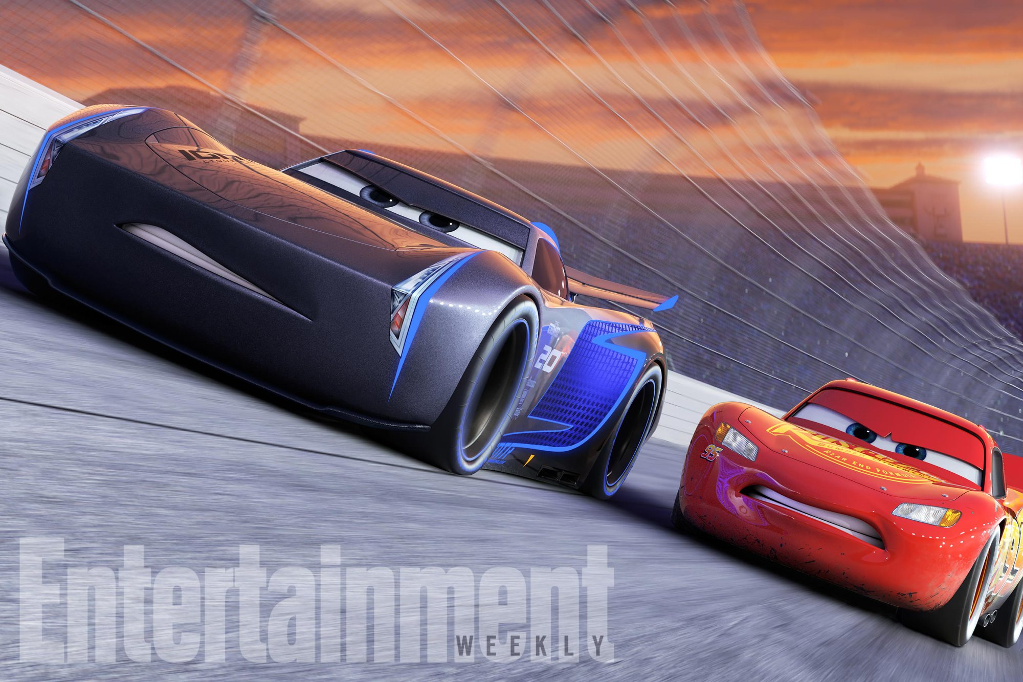 "CARS 3NEXT-GEN TAKES THE LEAD ó Jackson Storm (voice of Armie Hammer), a frontrunner in the next generation of racers, posts speeds that even Lightning McQueen (voice of Owen Wilson) hasnít seen.  ""Cars 3"" is in theaters June 16, 2017. ©2016 DisneyïPixar. All Rights Reserved."