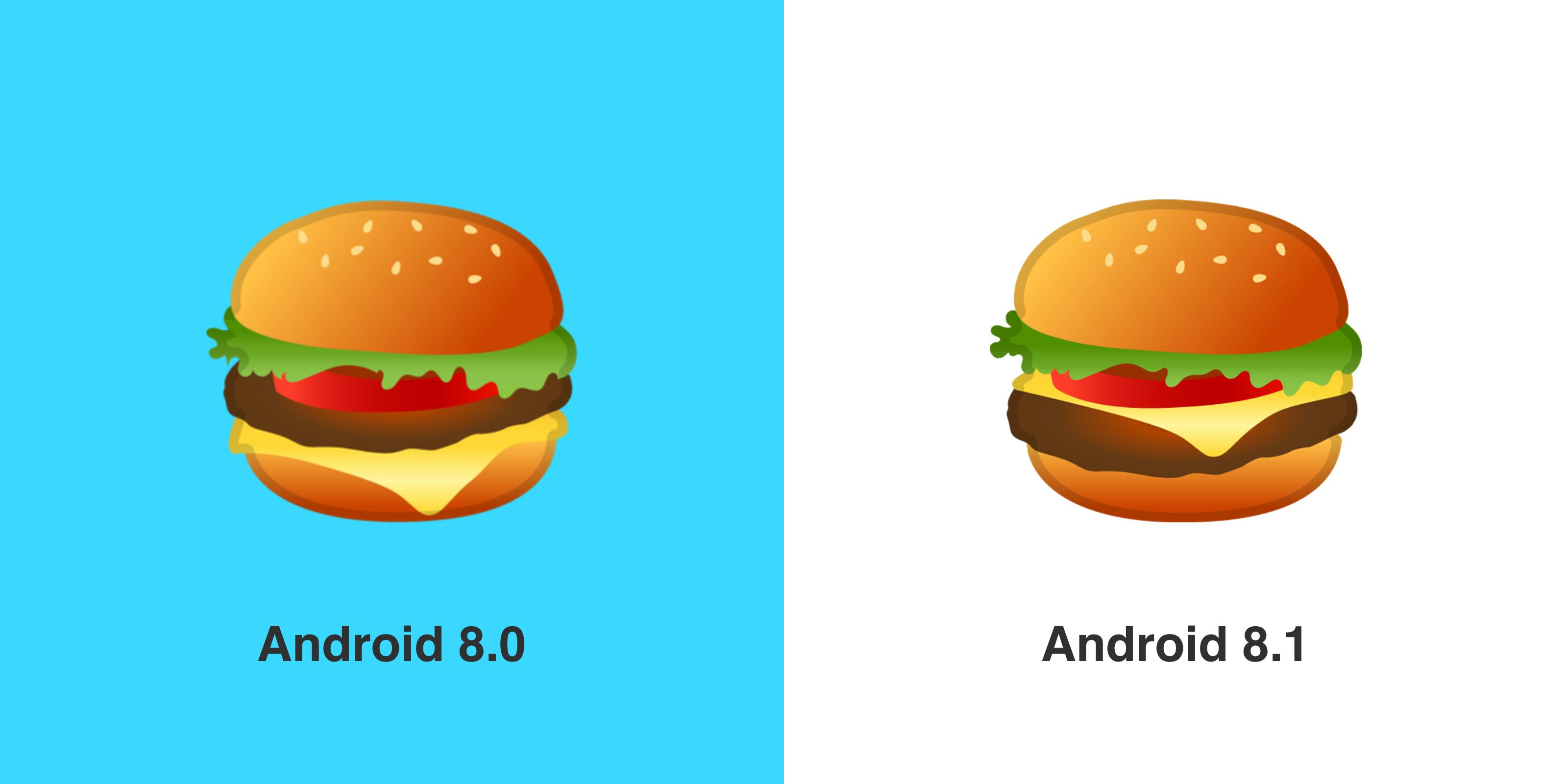 Google finally corrects its burger emoji