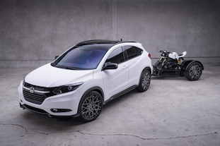 2016 Honda HR-V and Honda Grom customized by MAD Industries.