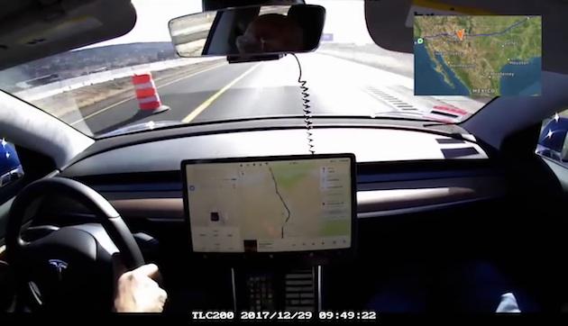 【ビデオ】テスラ「モデル3」が米国横断キャノンボールで電気自動車による新記録を達成!