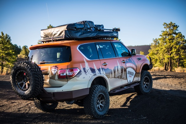 Nissan truck enthusiasts help guide modifications and equipment specs in creating the Armada Mountain Patrol – the ultimate overlanding family adventure full-size SUV.