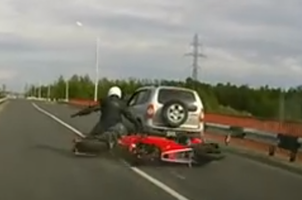 Russian motorbike crash
