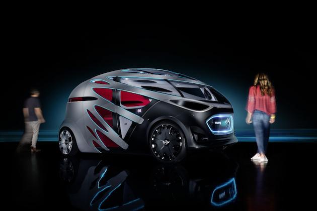 メルセデス・ベンツ、用途に応じて様々なボディに交換可能な自動運転電気自動車のコンセプトを発表