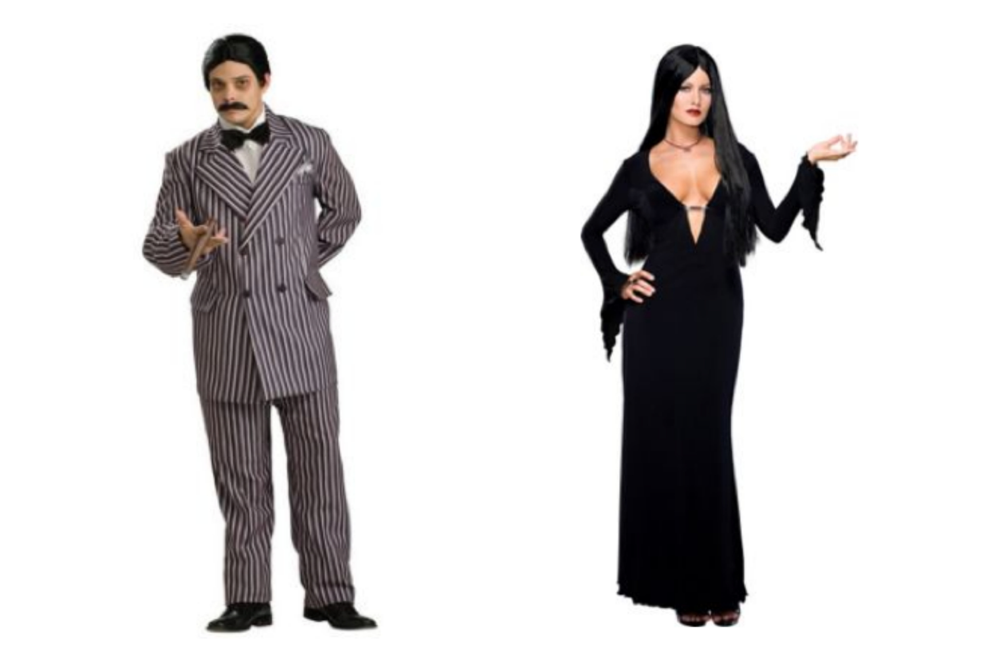 Morticia and Gomez The Addams Family Halloween Costumes