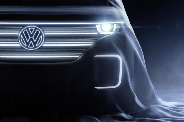 フォルクスワーゲン、CESで発表する電気自動車のティーザー画像を公開