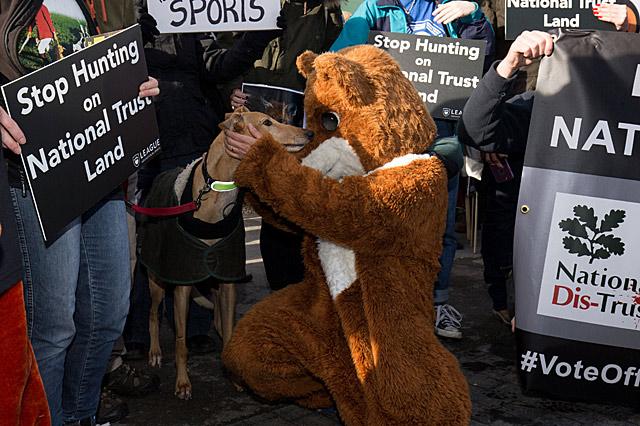 Anti-hunt protest
