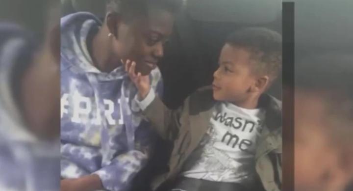 Kerrice Lewis avec le fils de sa meilleure