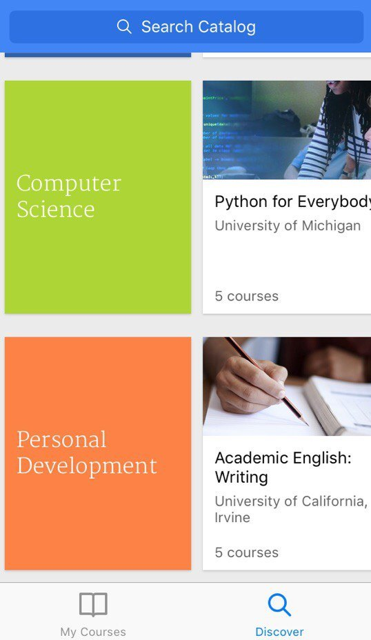 apps for students - coursera