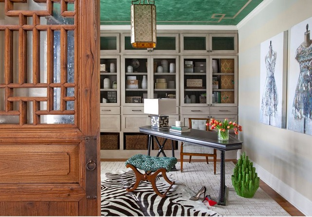 emeral home office Jennifer Reynolds design