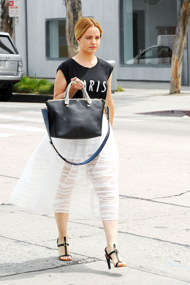 Mandatory Credit: Photo by Startraks Photo/REX (3692835d) Mena Suvari Mena Suvari out and about, Los Angeles, America - 10 Apr 2014 Mena Suvari heads to lunch with her boyfriend Salvador Sanchez