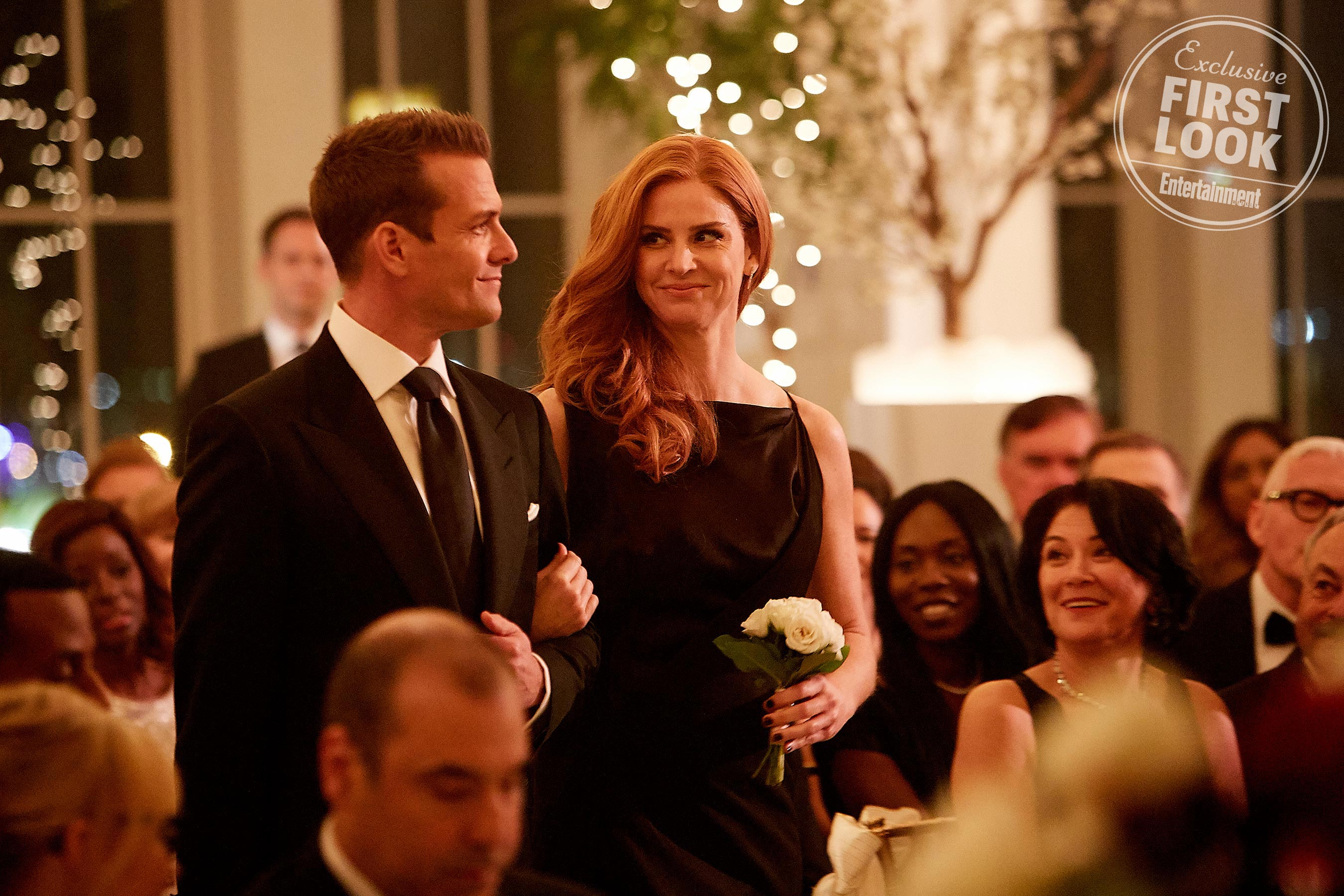 SUITS -- Episode 716 -- Pictured: (l-r) -- (Photo by: Ian Watson/USA Network)