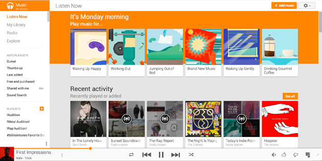 how to create a new playlist in google play music