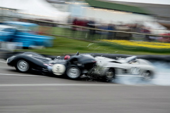 Classic car crash at Goodwood
