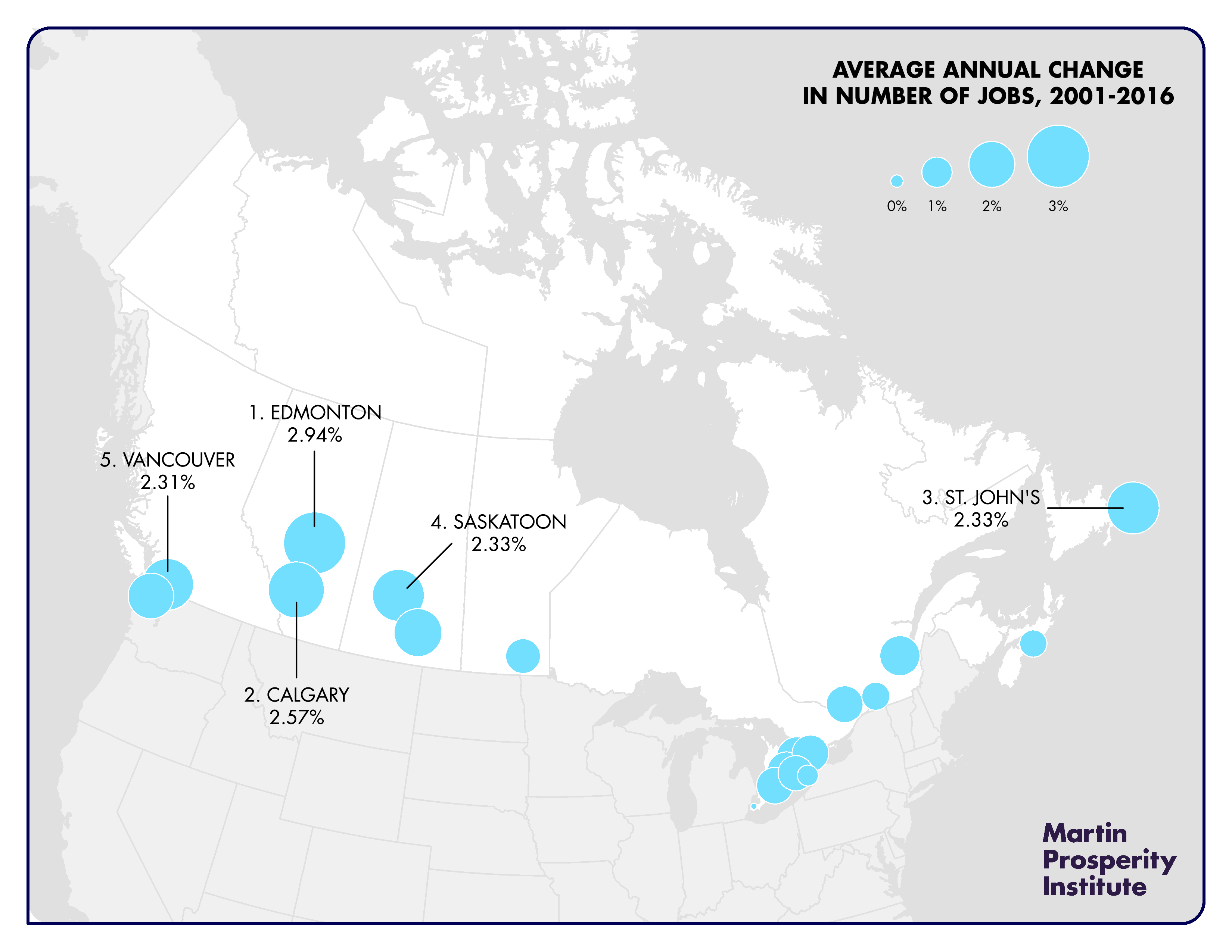 On Jobs, Canada\'s Metropolitan Areas Outperform Their U.S. Peers