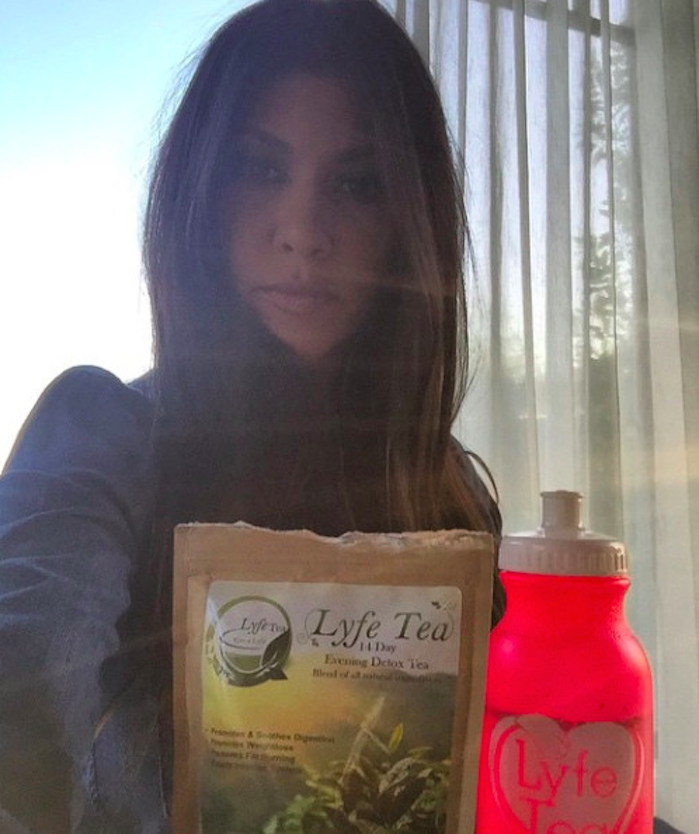 Kourtney Kardashian detox tea on Instagram