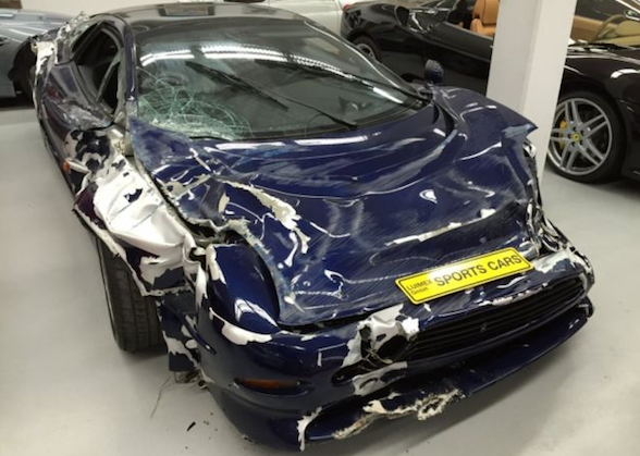Wrecked Jaguar XJ220 On Sale For £146,000