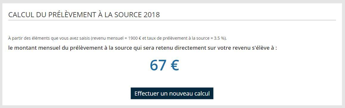 Impots Gouv Fr Ouvre Un Simulateur De Prelevement A La Source Le