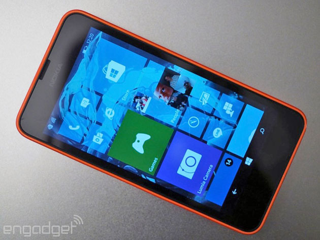 Windows 10 Technical Preview on a low-end Lumia