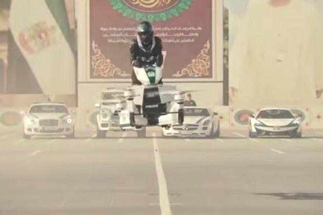 【ビデオ】スーパーカー部隊で知られるドバイ警察が、今度はホバーバイクを導入!