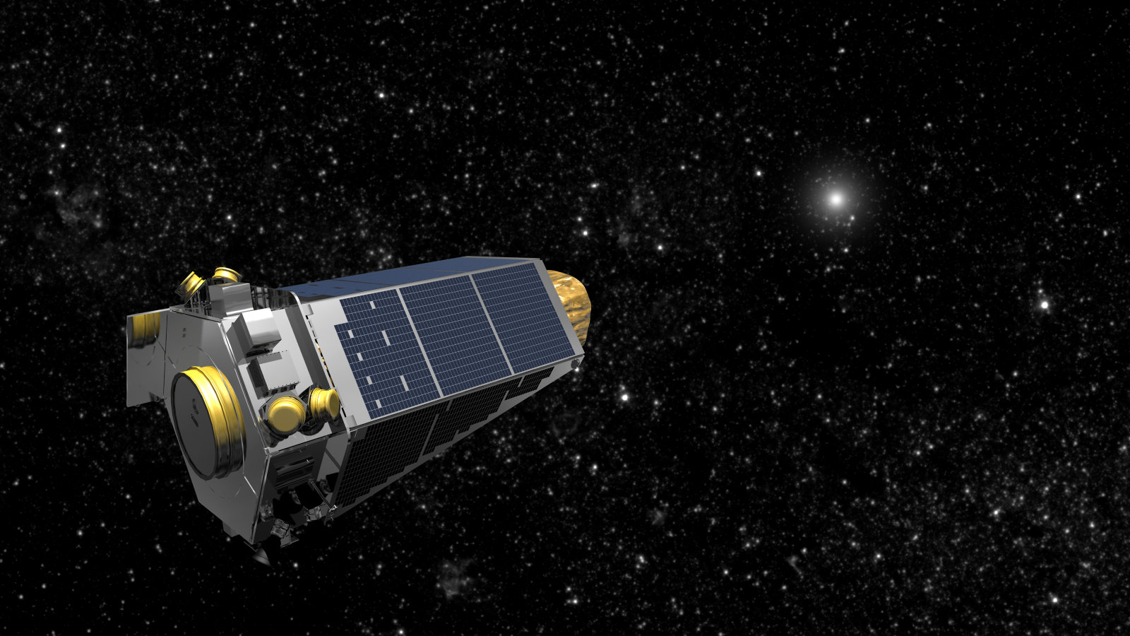 NASA's Kepler spacecraft is seen in an undated artist's rendering. During a scheduled contact on Thursday, April 7, 2016, mission operations engineers discovered that the Kepler spacecraft was in Emergency Mode and the mission has declared a spacecraft emergency. The spacecraft is nearly 75 million miles from Earth. REUTERS/NASA/Handout via Reuters  THIS IMAGE HAS BEEN SUPPLIED BY A THIRD PARTY. IT IS DISTRIBUTED, EXACTLY AS RECEIVED BY REUTERS, AS A SERVICE TO CLIENTS. FOR EDITORIAL USE ONLY. NOT FOR SALE FOR MARKETING OR ADVERTISING CAMPAIGNS