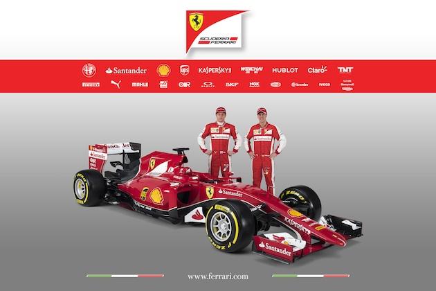 栄光の復活へ! フェラーリ、2015年型F1マシン「SF-15T」を発表