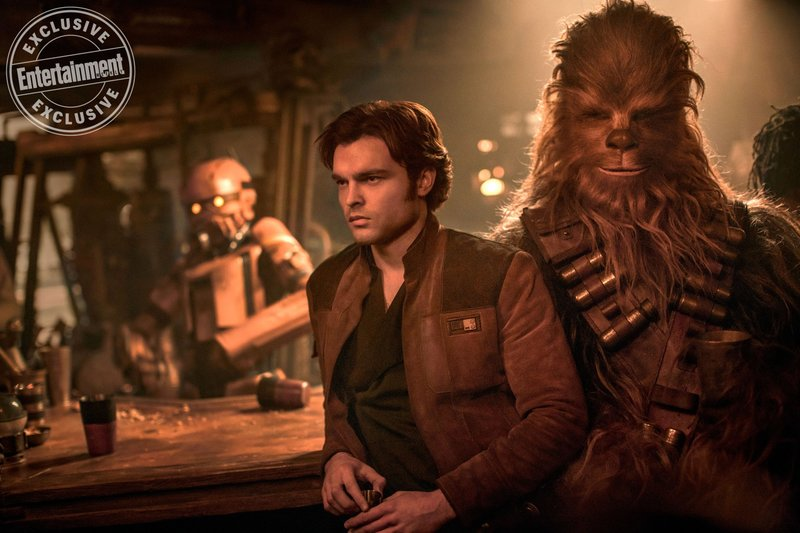 SOLO: A STAR WARS STORY. Alden Ehrenreich as Han Solo and Joonas Suotamo as Chewbacca