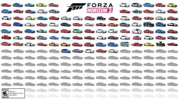 レーシングゲーム『Forza Horizon 2』に登場するクルマ100車種が公開!