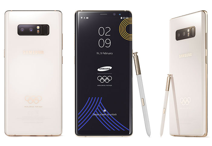 Samsung designed a 2018 Winter Olympics edition Galaxy Note 8