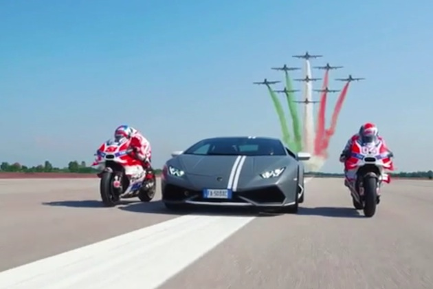 【ビデオ】イタリア空軍とランボルギーニ、ドゥカティが集まって「パッショーニ・トリコローリ」を開催