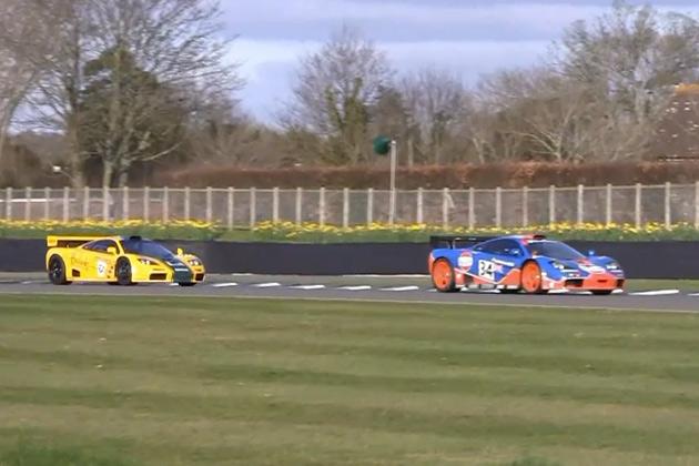 【ビデオ】16台もの「マクラーレン F1 GTR」が集結! 爆音を響かせサーキットを走行