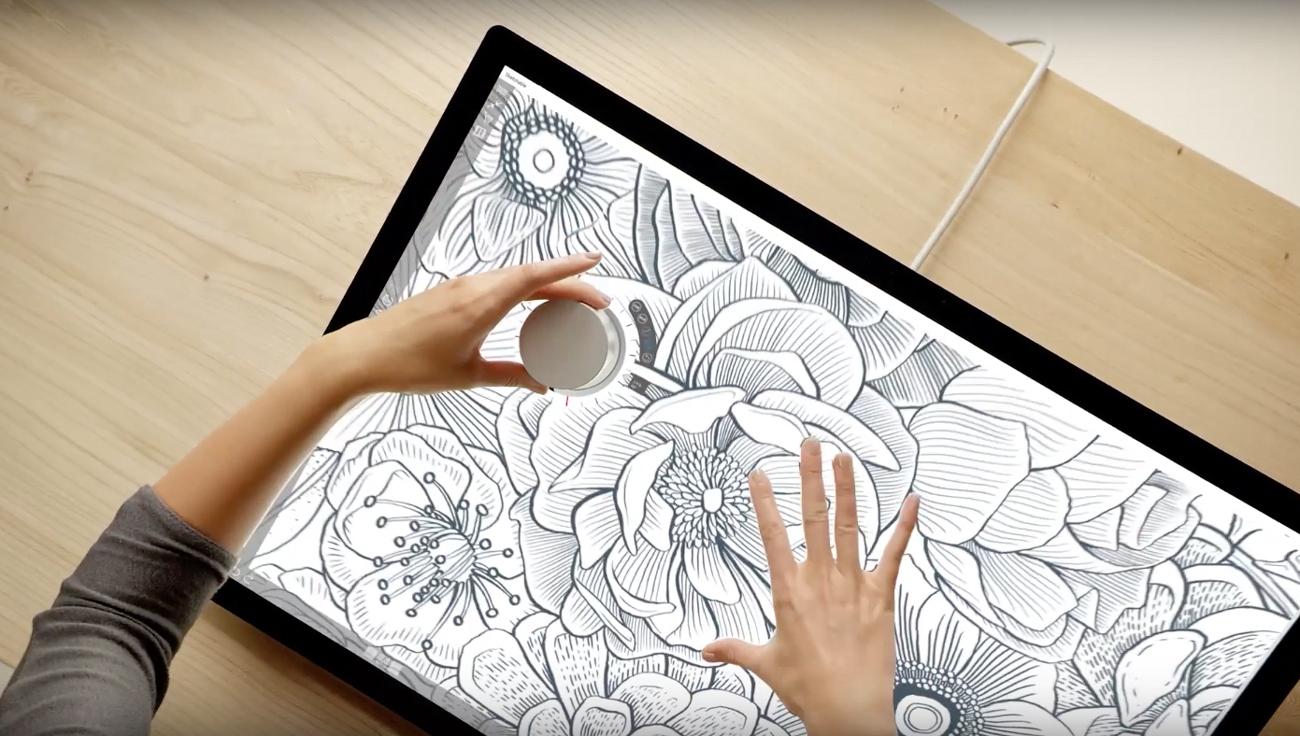 微软的 Surface Dial 也将支持 Surface Pro 与 Surface Book