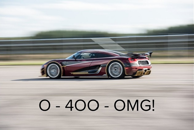 【ビデオ】ケーニグセグ「アゲーラ RS」、0-400-0km/hの世界最速記録を更新! ブガッティ「シロン」を破る!