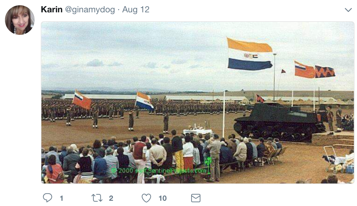 Apartheid Sympathiser Has SA Twitter In Uproar For Saying Old SA Flag Gives Her