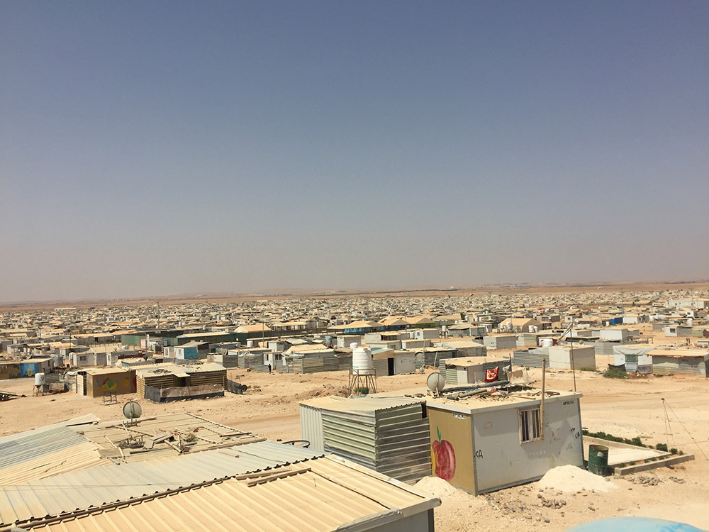 Za'atari refugee camp hosts 80,000 Syrians, more than half of whom are